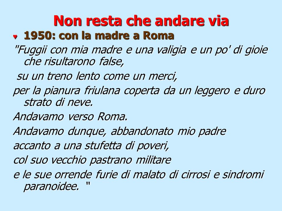 Non resta che andare via 1950: con la madre a Roma