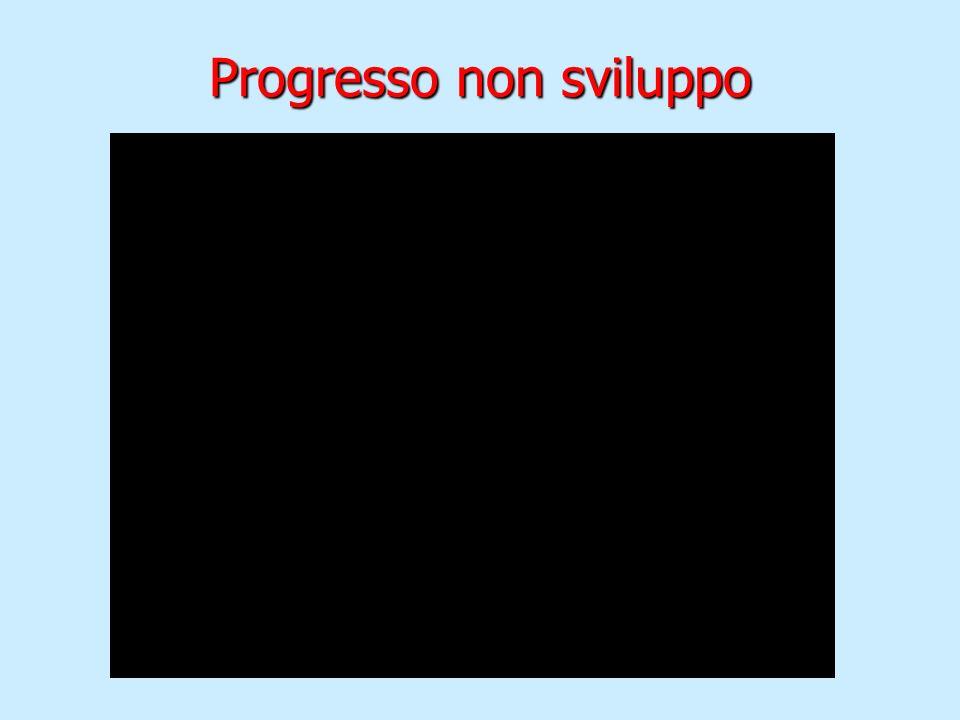 Progresso non sviluppo