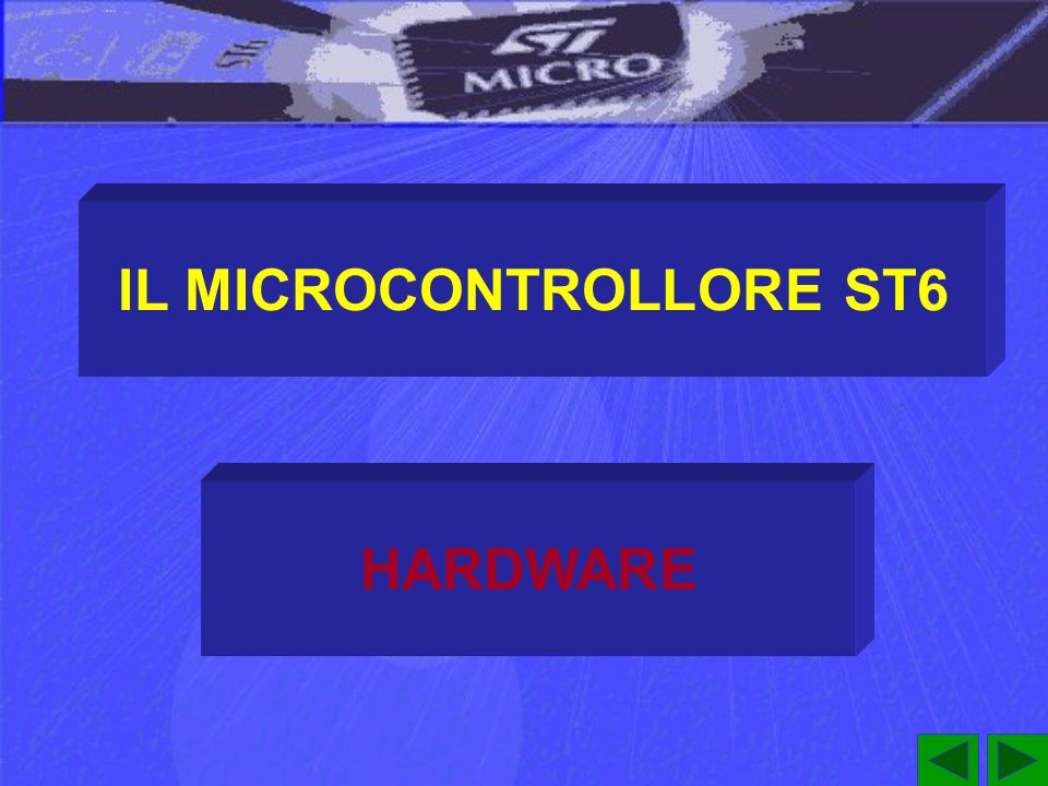 LO STACK DELLA CPU ST6 Poiché laccumulatore e gli altri registri allocati nello spazio dei dati non vengono memorizzati nello Stack, la loro gestione deve essere effettuata allinterno delle subroutine che li utilizzano.