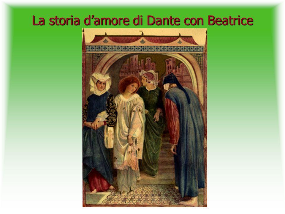 La storia damore di Dante con Beatrice