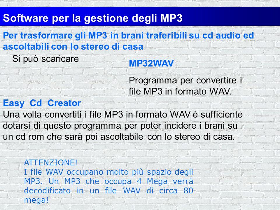 Winamp E un pregevole e flessibile riproduttore che è diventato praticamente uno standard per lascolto degli MP3. Riproduce anche i cd-audio e i file