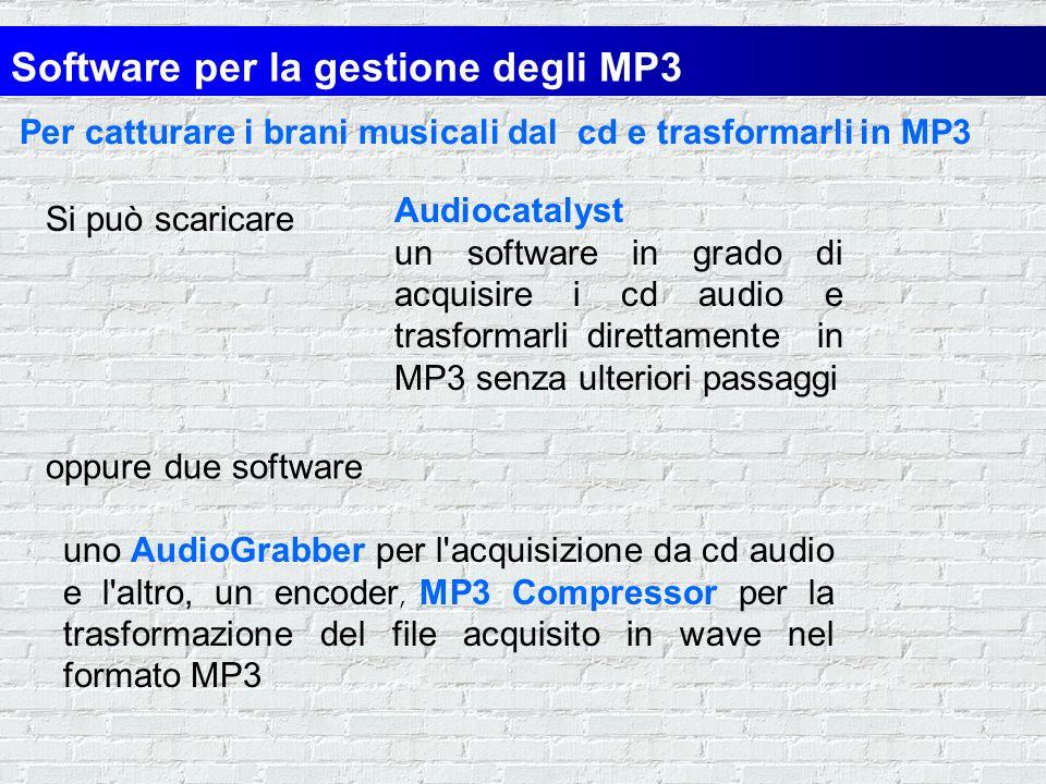 Per trasformare gli MP3 in brani traferibili su cd audio ed ascoltabili con lo stereo di casa MP32WAV Programma per convertire i file MP3 in formato W
