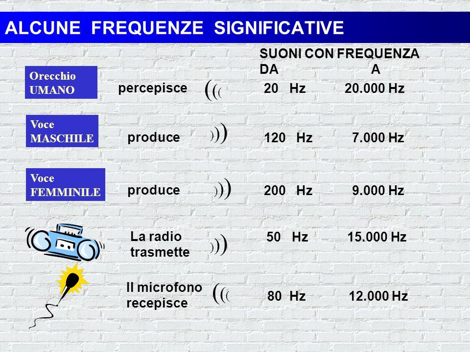 IL SUONO PERIODOAMPIEZZA TEMPO I suoni consistono in vibrazioni che formano unonda, la cui ampiezza misura laltezza dellonda e il periodo è la distanz