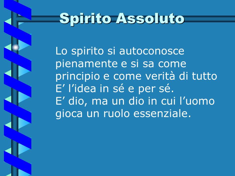 Spirito oggettivo E lo spirito che si realizza nelle istituzioni, nella società: è lethos che alimenta la vita etico – politica, è la storia che si fa