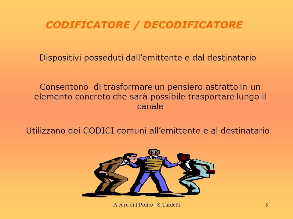 A cura di I.Polito - S.Tardetti4 INFORMAZIONE DA TRASMETTERE E largomento della comunicazione tra emittente e ricevente MESSAGGIO È detto