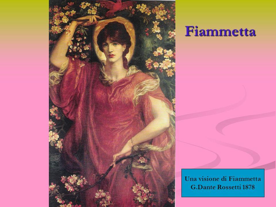 Fiammetta Una visione di Fiammetta G.Dante Rossetti 1878