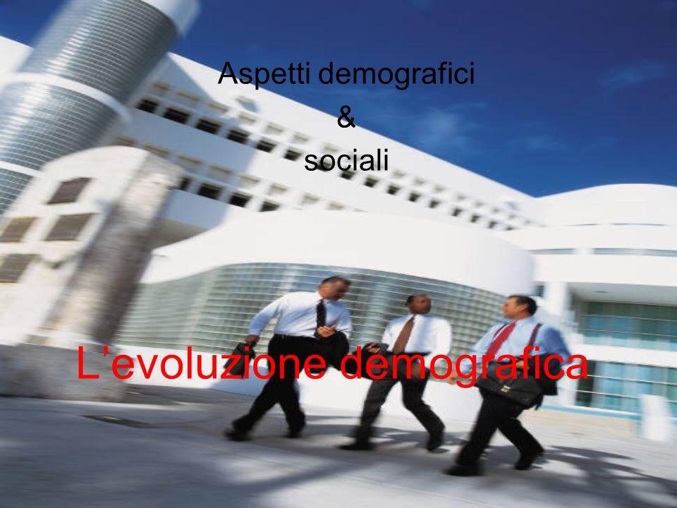 Levoluzione demografica Aspetti demografici & sociali