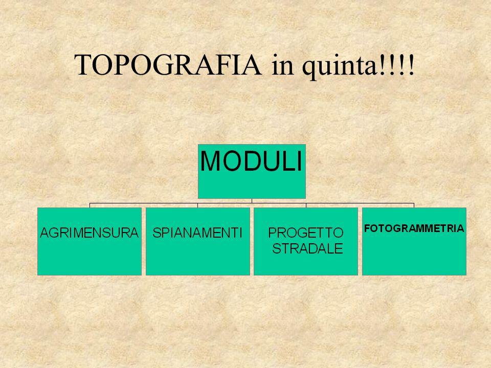Presentazione programma a.s. 2002/2003 TOPOGRAFIA nella classe QUINTA geom. Prof. Raffaele AGRIESTI