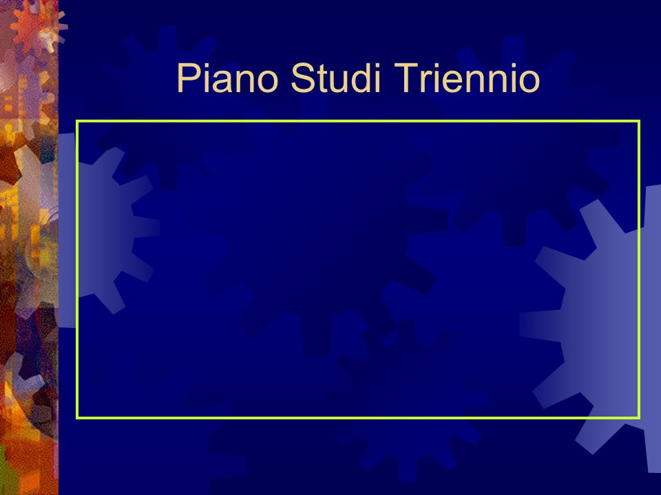 Piano Studi Corso 1