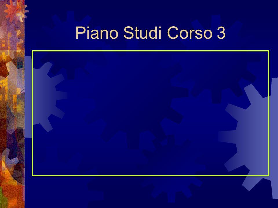 Piano Studi Corso 3