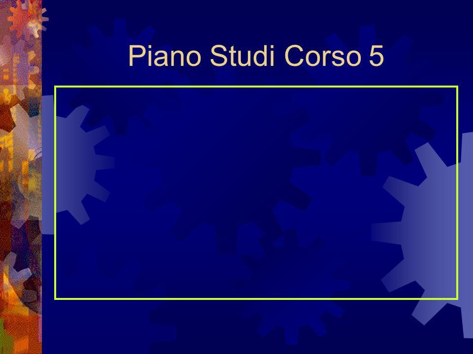 Piano Studi Corso 5