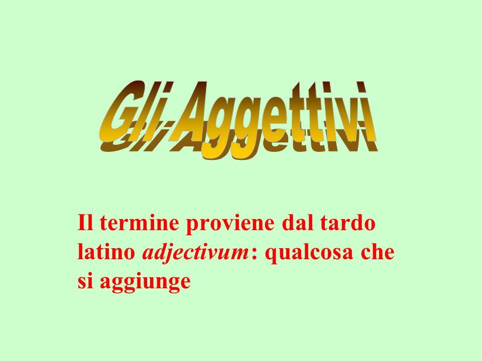 Il termine proviene dal tardo latino adjectivum: qualcosa che si aggiunge