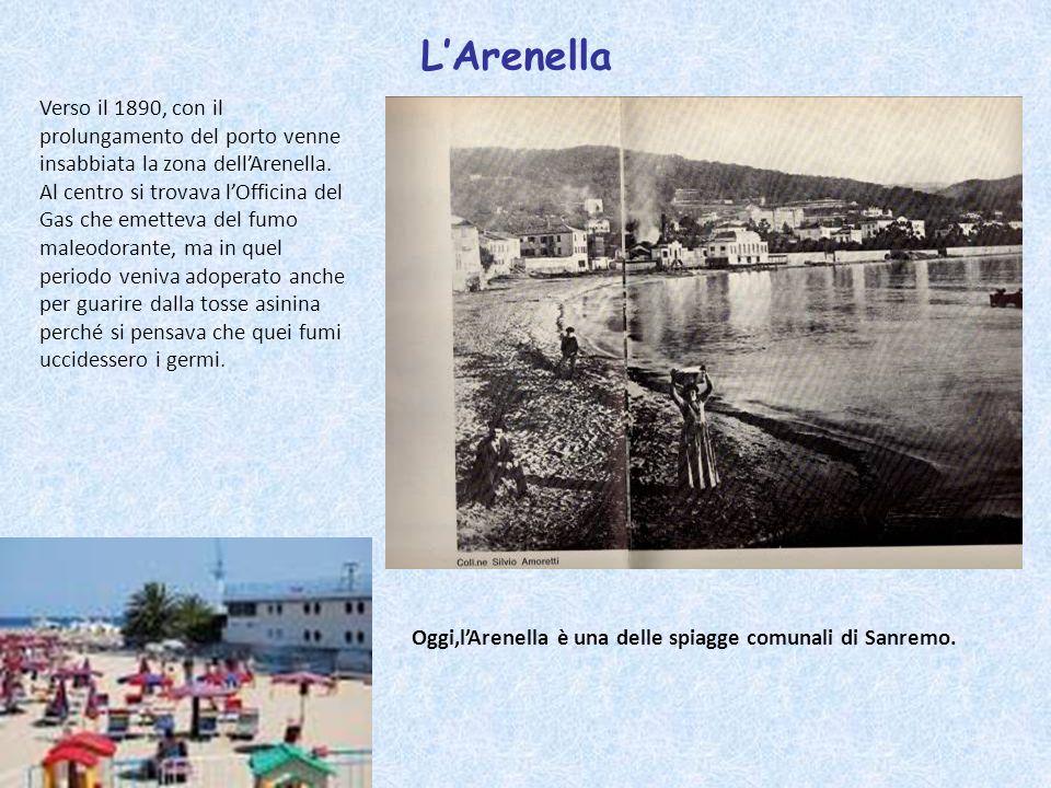 LArenella Verso il 1890, con il prolungamento del porto venne insabbiata la zona dellArenella. Al centro si trovava lOfficina del Gas che emetteva del