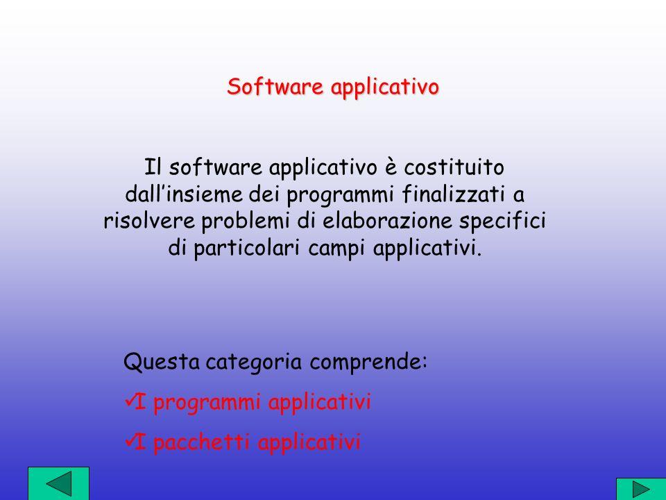 Software di base Il software di base costituisce la parte integrante del sistema di elaborazione, è generalmente fornito dalla casa costruttrice del c