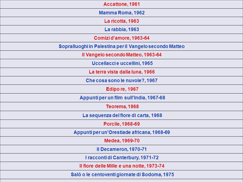 Gesù è stato un rivoluzionario, un uomo dolce e mite che ha reagito con rabbia allipocrisia e alla falsità, non un comunista in doppio petto (cinico,conformista, pronto al compromesso, al rancore teologico senza religione) Dopo Sopralluoghi in Palestina, il film è girato in Italia tra Lazio, Basilicata, Puglia, Sicilia Ho scelto il Vangelo di Matteo perché era il più epico di tutti, il più arcaico, il meno cosmopolita Musiche di Bach Mozart Prokofiev Buon successo di critica