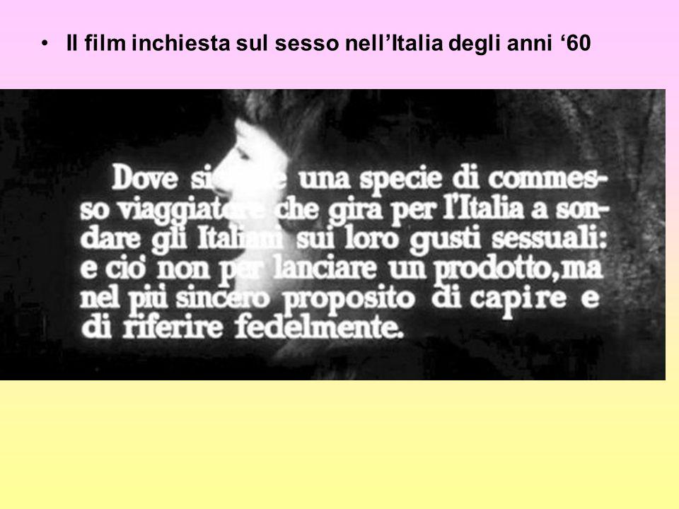 Il film inchiesta sul sesso nellItalia degli anni 60