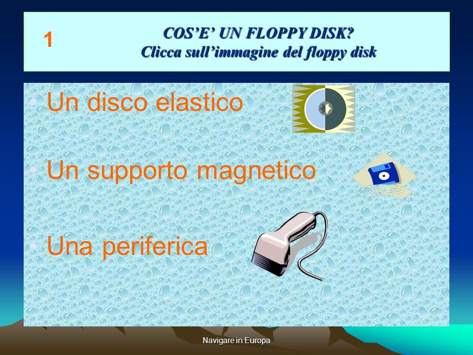 Navigare in Europa COSE UN FLOPPY DISK.Clicca sullimmagine del floppy disk COSE UN FLOPPY DISK.