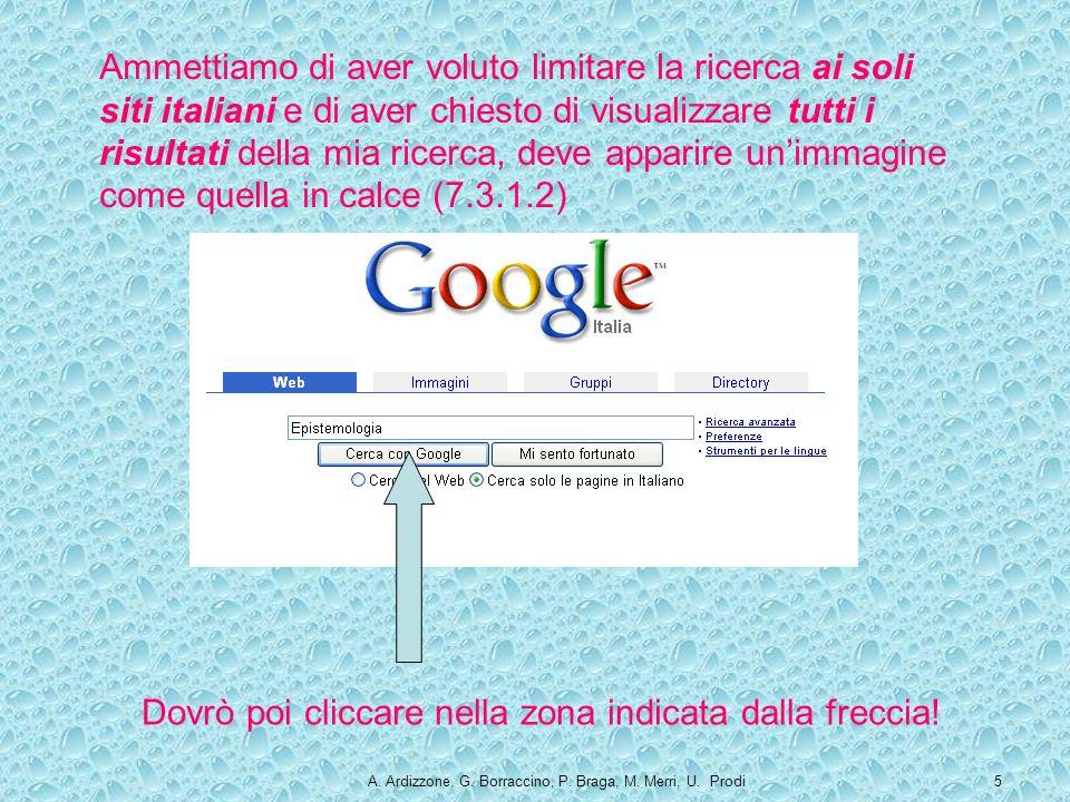 A. Ardizzone, G. Borraccino, P. Braga, M. Merri, U.