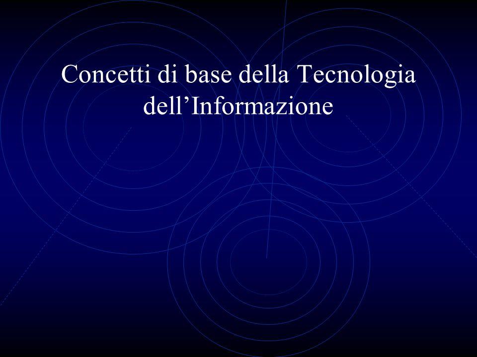Concetti di base della Tecnologia dellInformazione