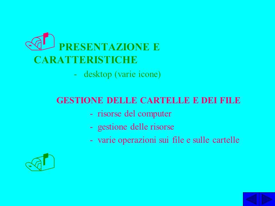 PRESENTAZIONE E CARATTERISTICHE - desktop (varie icone).