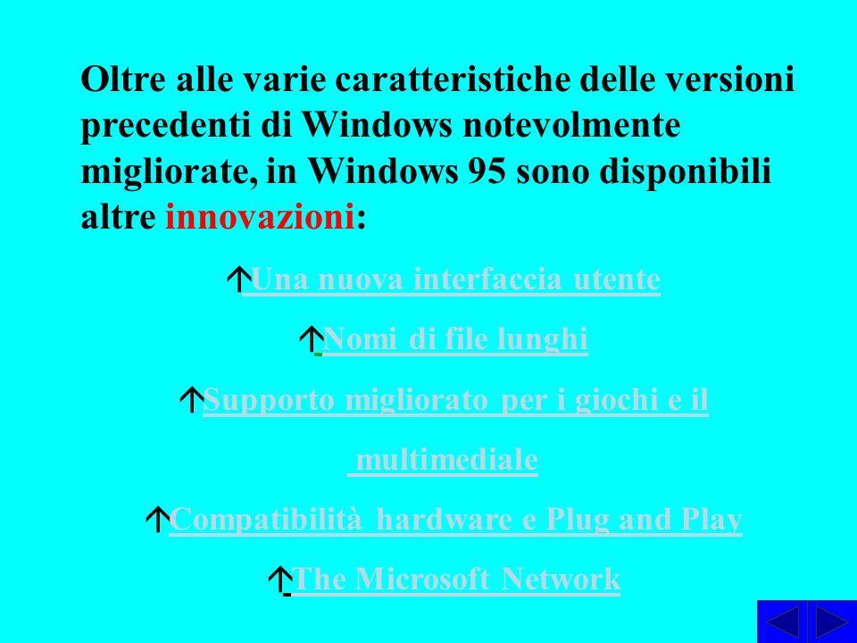 Il pulsante AVVIO consente di aprire il menù Avvio per chiamare un programma o un file.