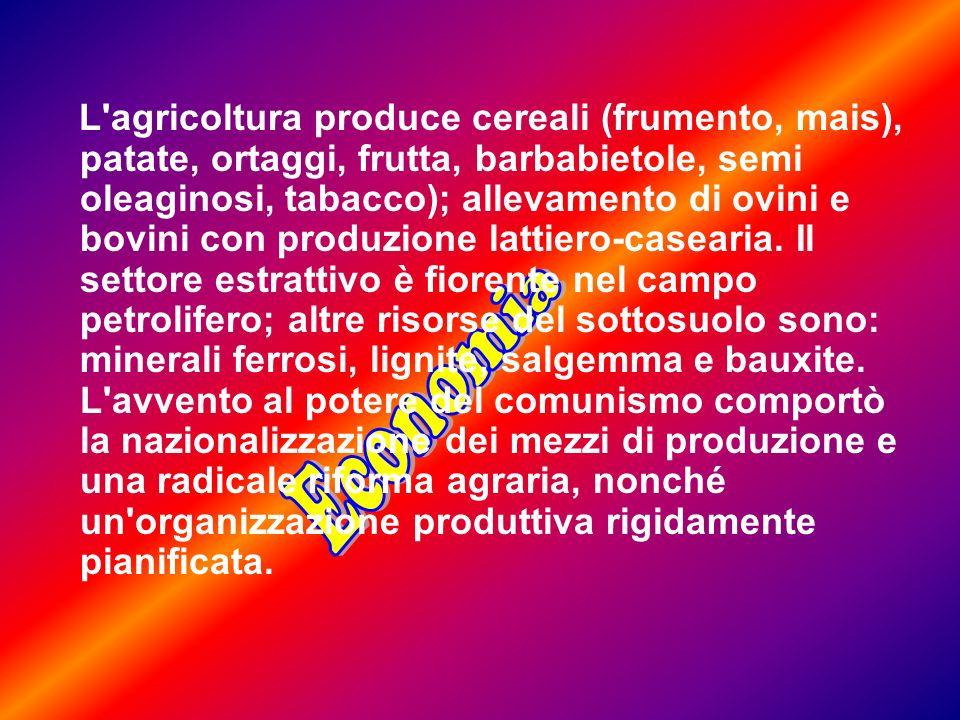 L agricoltura produce cereali (frumento, mais), patate, ortaggi, frutta, barbabietole, semi oleaginosi, tabacco); allevamento di ovini e bovini con produzione lattiero-casearia.