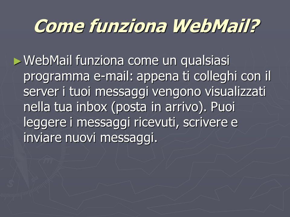 Come funziona WebMail.