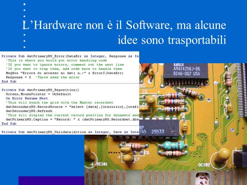 LHardware non è il Software, ma alcune idee sono trasportabili