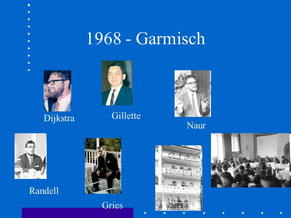 1969 - Roma Dijkstra Brinch Hansen Hoare Lampson Wirth Randell Perlis