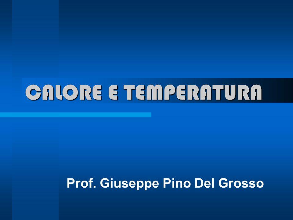 CALORE E TEMPERATURA Prof. Giuseppe Pino Del Grosso