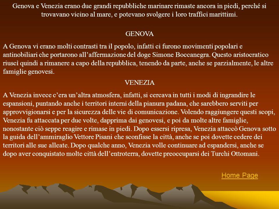 Firenze era un Comune divenuto Signoria grazie a Cosimo de Medici, che seppe governare sulla città, pur tenendo in vita la forma repubblicana.Come si può vedere nella mappa, Firenze rimase dapprima un piccolo staterello, riuscendo a resistere a varie invasioni, e addirittura a conquistare dei territori quando Gian Galeazzo Visconti morì.