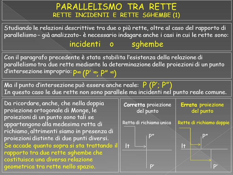 Studiando le relazioni descrittive tra due o più rette, oltre al caso del rapporto di parallelismo – già analizzato- è necessario indagare anche i cas