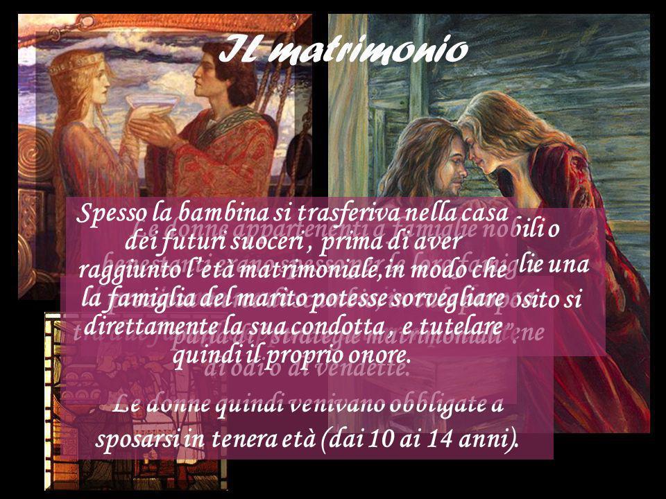 La procreazione Soprattutto per le donne del Medioevo, lo scopo principale, oltre a quello del matrimonio, era anche quello della procreazione.