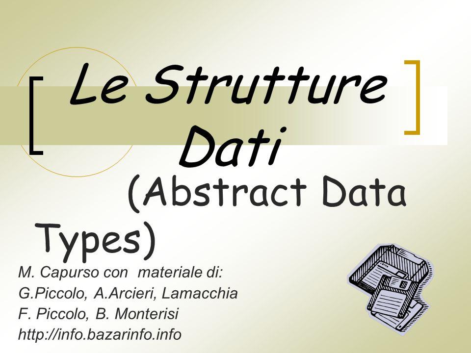 Le Strutture Dati M. Capurso con materiale di: G.Piccolo, A.Arcieri, Lamacchia F.