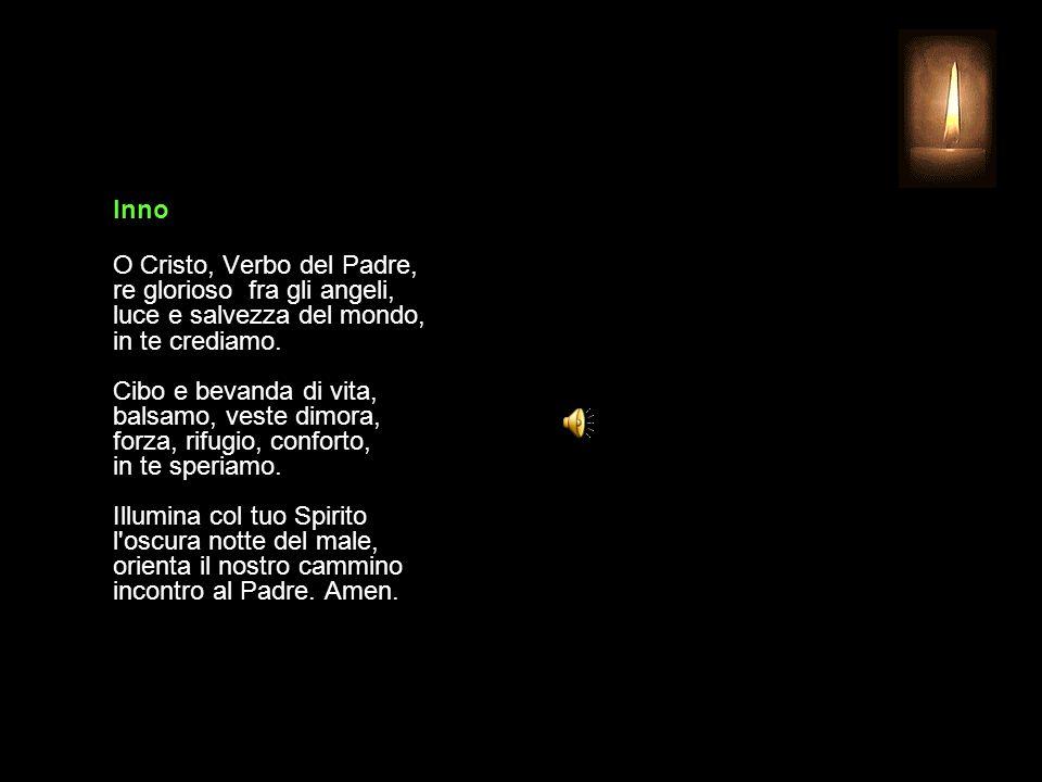 3 OTTOBRE 2013 GIOVEDÌ - XXVI SETTIMANA DEL TEMPO ORDINARIO UFFICIO DELLE LETTURE INVITATORIO V. Signore, apri le mie labbra R. e la mia bocca proclam