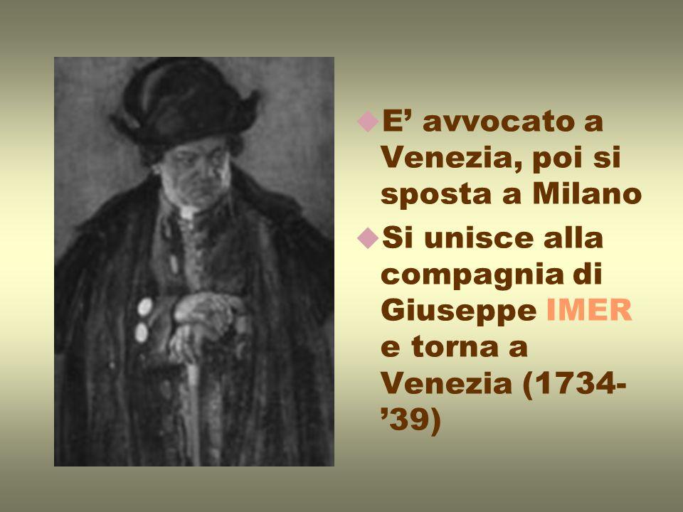 Evoluzione della produzione teatrale: MOMOLO CORTESAN: scrive la parte del protagonista DONNA DI GARBO: scrive lintera commedia PAMELA NUBILE: abolisce le maschere