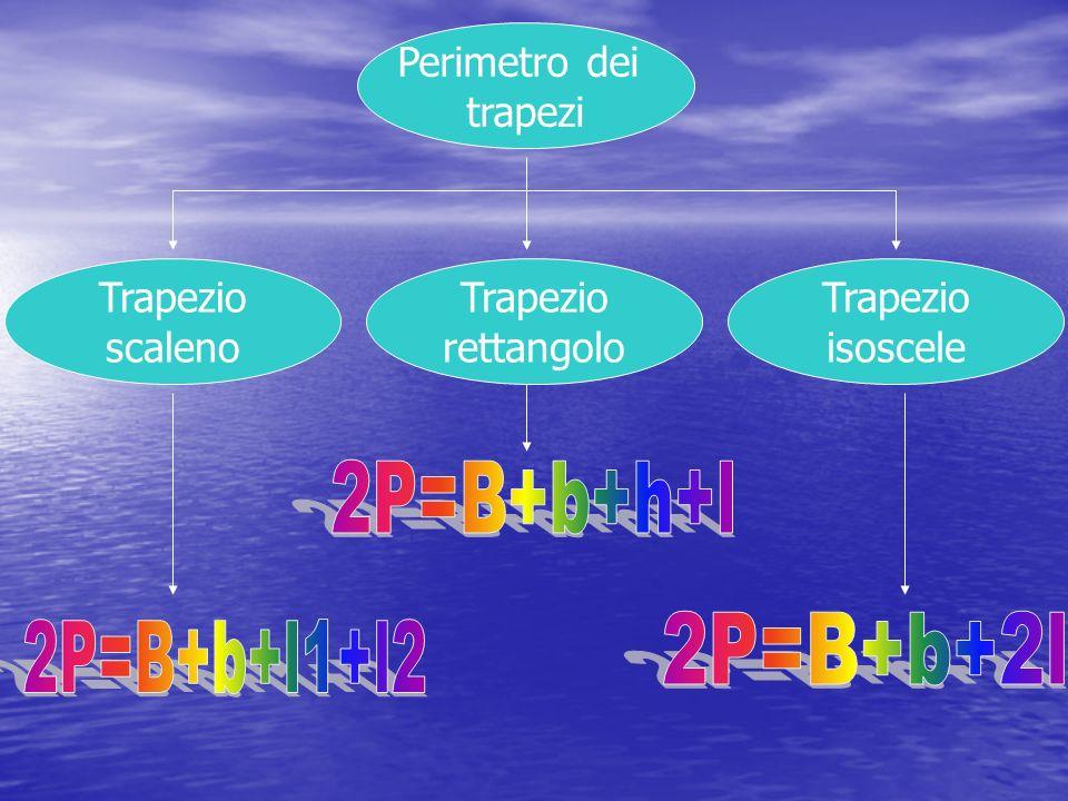 Perimetro dei trapezi Trapezio scaleno Trapezio rettangolo Trapezio isoscele
