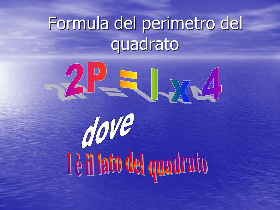 Formula del perimetro del quadrato