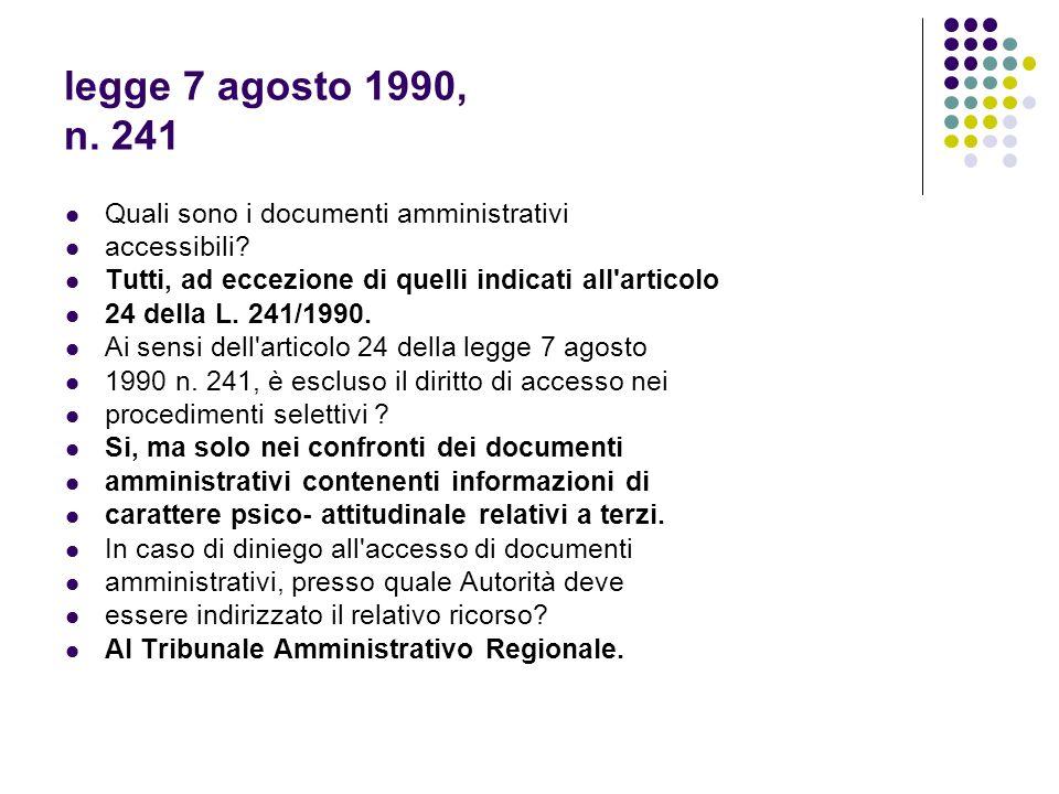 legge 7 agosto 1990, n.