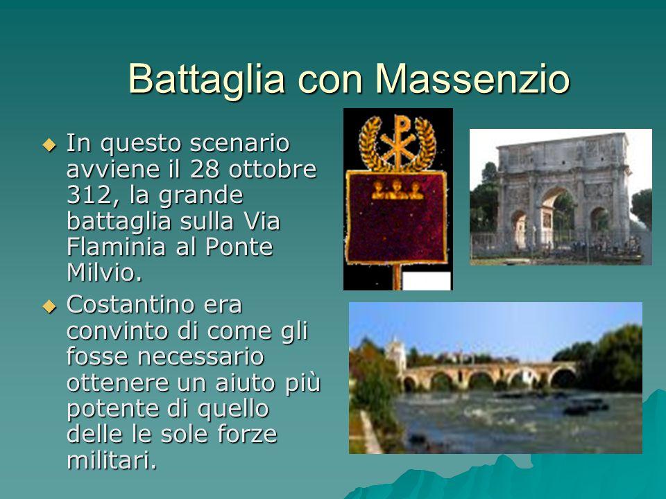 In questo scenario avviene il 28 ottobre 312, la grande battaglia sulla Via Flaminia al Ponte Milvio. In questo scenario avviene il 28 ottobre 312, la