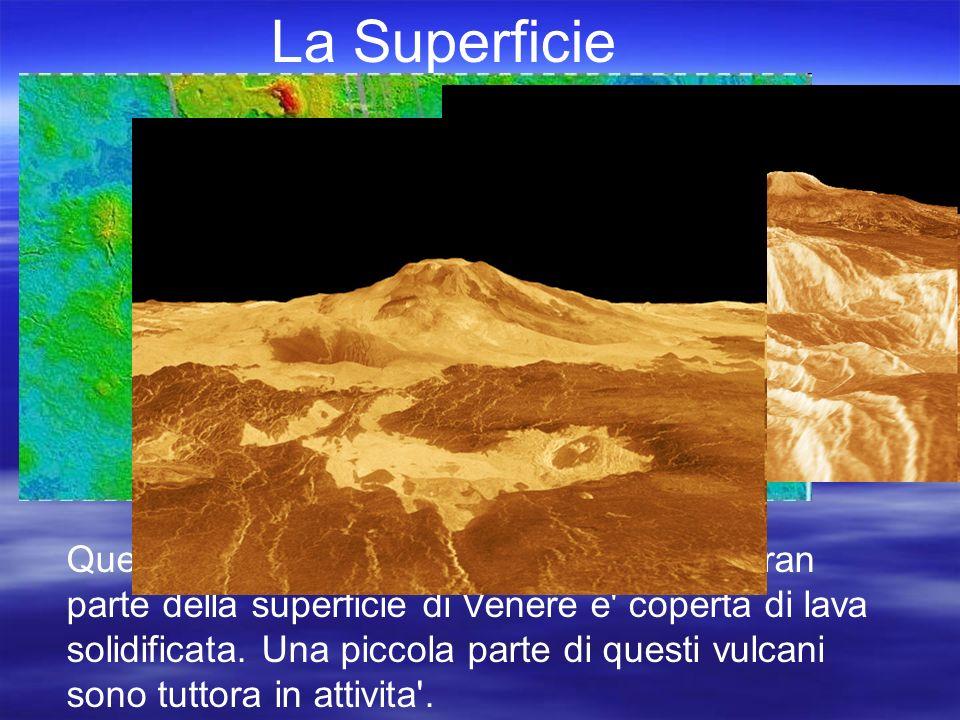 La Superficie Venere e priva di acqua.