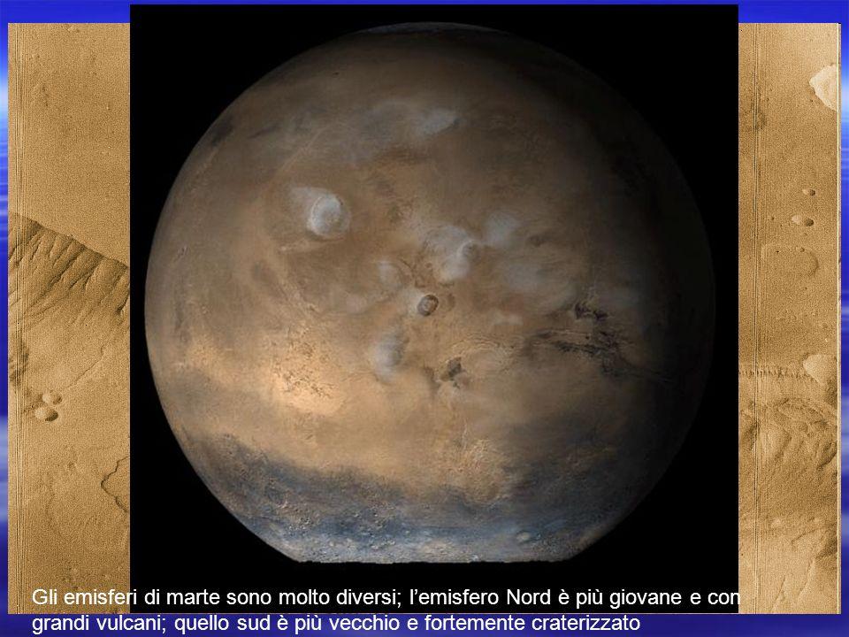 Marte non presenta catene montuose come quelle terrestri e le montagne sono di origine vulcanica Lattività tettonica non ha lo stesso sviluppo di quella terrestre tuttavia Marte ha una notevole fossa tettonica come la Vallis Marineris.