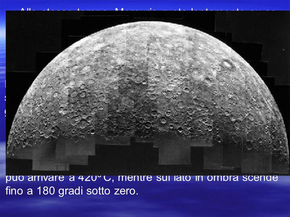 Mercurio non ha né satelliti né anelli.Si tratta di un pianeta molto spoglio.
