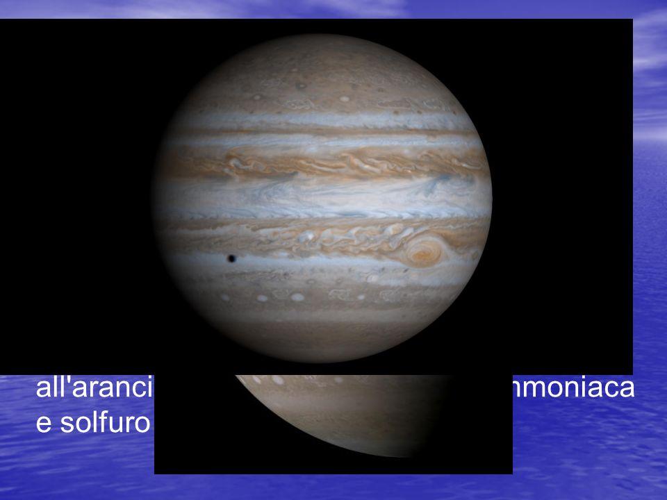 Quando li osserviamo noi vediamo solo lo strato di nubi più alte della loro atmosfera. Essa è composta per il 90% da idrogeno e per il 10% da elio (co