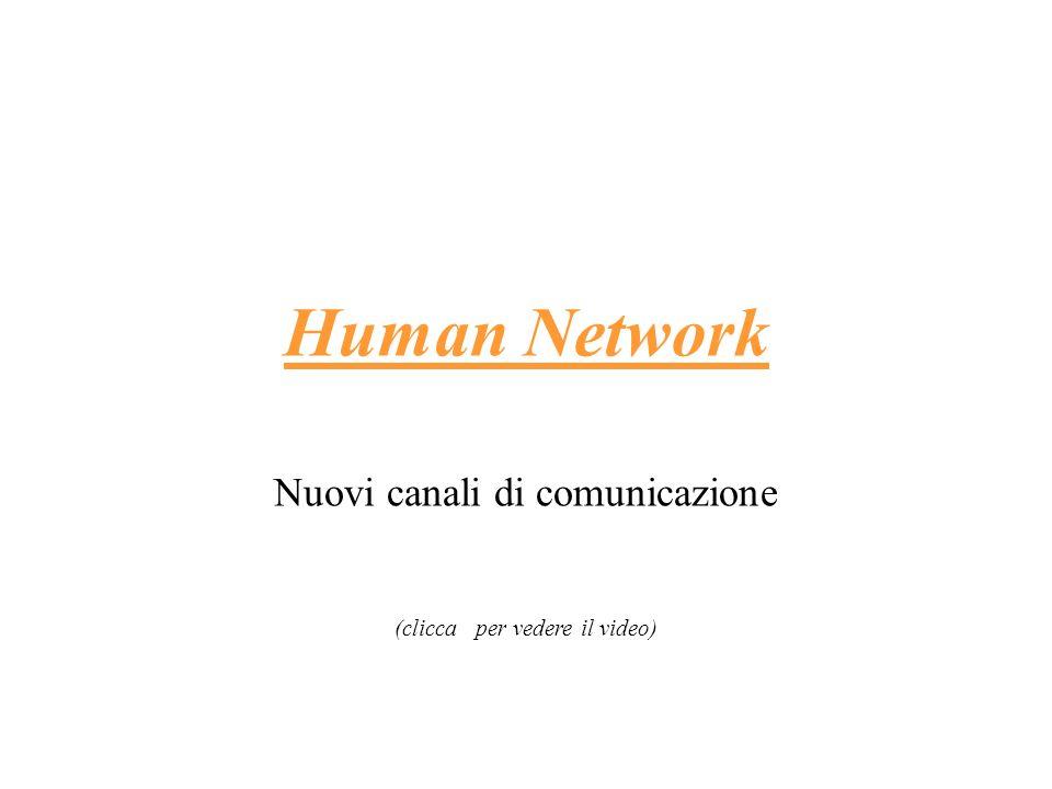 Human Network Nuovi canali di comunicazione (clicca per vedere il video)