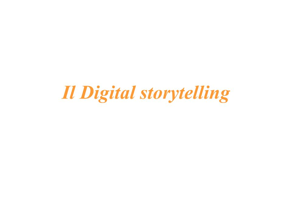 Il Digital storytelling