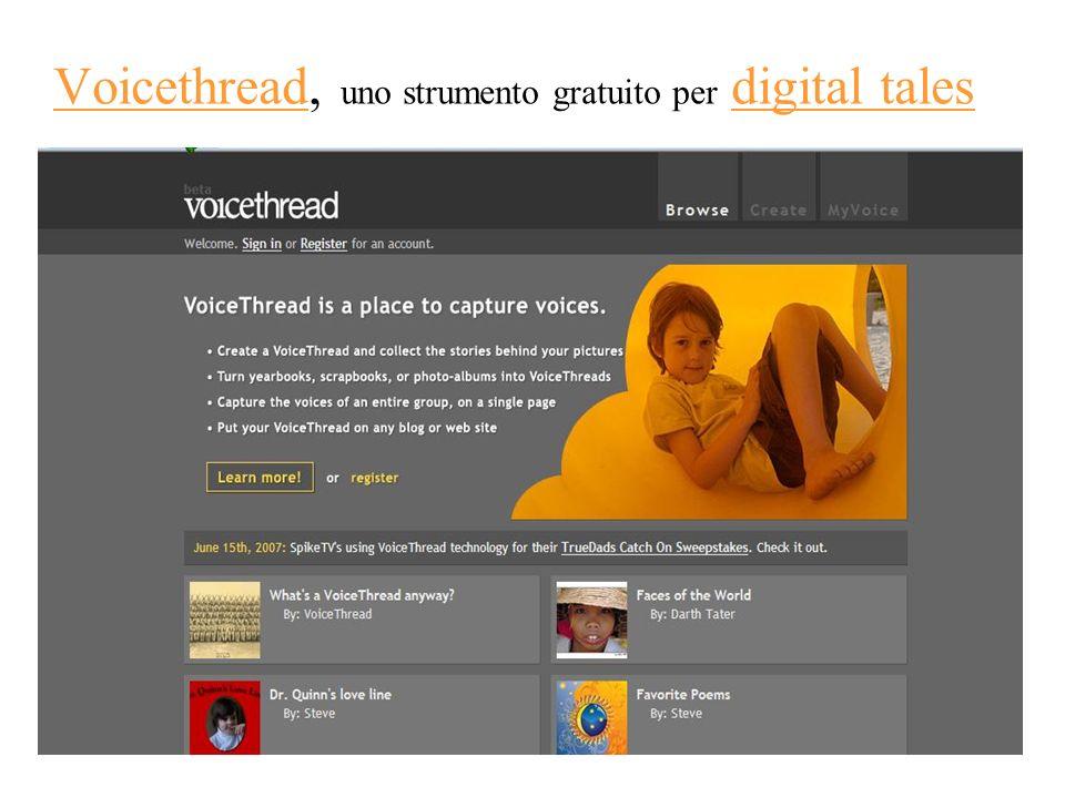 Voicethread, uno strumento gratuito per digital talesVoicethreaddigital tales