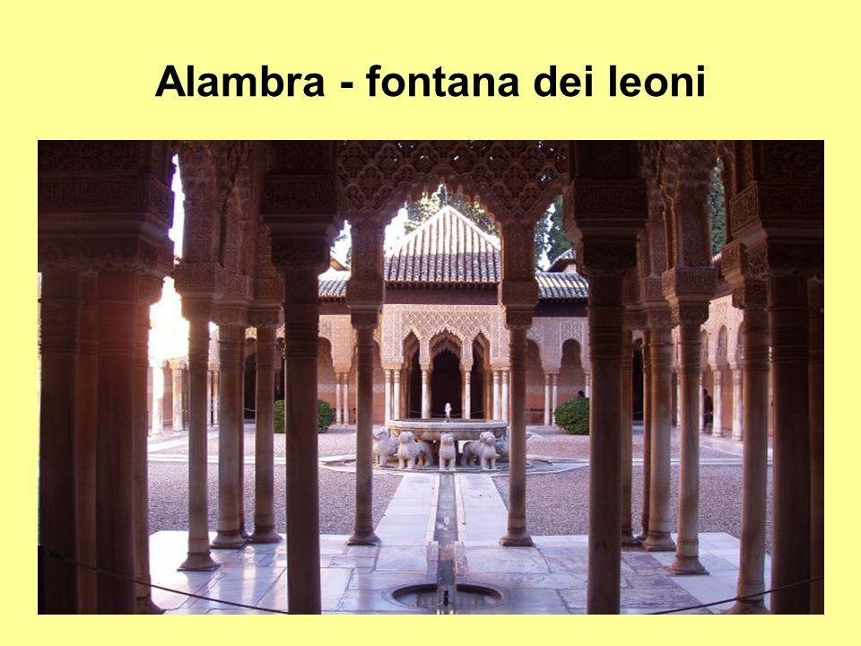 Alambra - fontana dei leoni