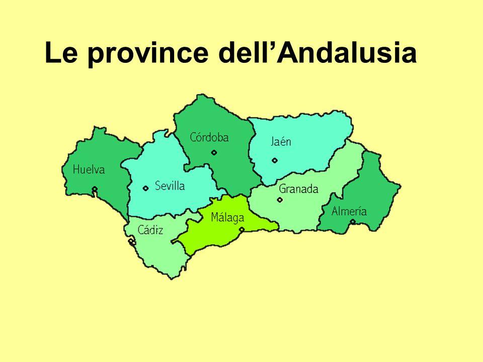 Le province dellAndalusia