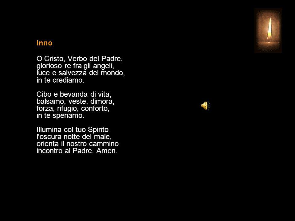 2 OTTOBRE 2013 MERCOLEDÌ - XXVI SETTIMANA DEL TEMPO ORDINARIO SANTI ANGELI CUSTODI UFFICIO DELLE LETTURE INVITATORIO V. Signore, apri le mie labbra R.